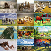 Horse Animals DIY Paint By Number Kit Acrylic Oil Painting On Canvas Home Decor