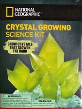 """National Geographic Crystal Growing Science Kit """"Glow in Dark"""" NEW"""