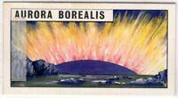 Aurora Borealis Northern Lights Solar System Astronomy Vintage Trade Ad Card