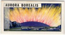 Aurora Borealis Northern Lights Solar System Astronomy Vintage Trade Ad Card