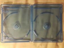 Blu Ray Cases Empty (NEW 5 Qty) (3) 2-Disc (2) 1-Disc W/Logo Replacement Movie