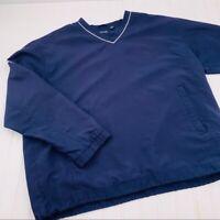 Ping Golf Pullover Windbreaker Jacket Navy Blue L