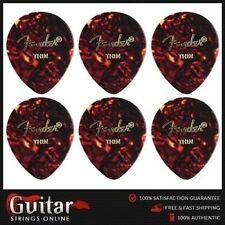 "6 x Fender Thin 347 Large Teardrop Shape Classic Celluloid Picks ""New"""