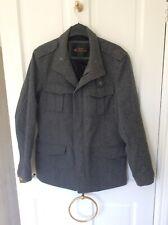 Men's Designer Ben Sherman Grey Woolen Style Coat Size Small