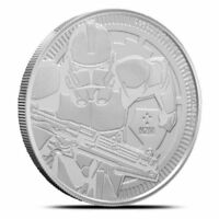 2019 Niue Clone Trooper 1 oz Silver Coin Star Wars .999 FINE AG Round IN-STOCK!!