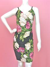 Betsey Johnson Huge Rose Side Cinch Sheath Lycra Stretch Dress Medium M