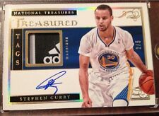 STEPHEN CURRY 2012-13 NATIONAL TREASURES ADIDAS TREASURED TAGS AUTO  #2/5 MVP