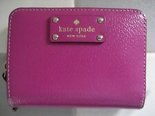 KATE SPADE Wellesley Cara Leather Zip Around Wallet, Fuchsia Pink