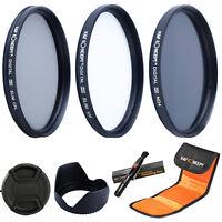 58mm UV CPL Circular Polarizing ND4 Filter Kit Set for for Canon 18-55mm Lens