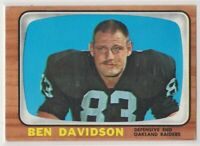 1966  Topps BEN DAVIDSON Football Card # 108 - OAKLAND RAIDERS