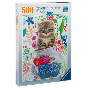 Ravensburger 500pc Jigsaw Puzzle - Kitten in a Cup - 15037