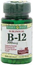 Nature's Bounty Vitamin B-12 500 mcg Microlozenges 100 ea