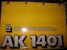 ATLAS Grue camion AK1401 : catalogue de pièces