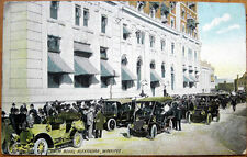 1907 Postcard: 'Automobile Drive, Royal Alexandra Hotel - Winnipeg, Manitoba'