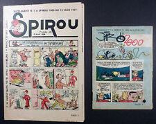 Spirou 2 suppléments à Spirou n°1000 Franquin, Morris, Tillieux Juin 1957 TBE