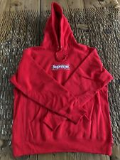 Supreme Red box logo hoodie bandana Medium 100% Authentic