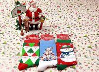 Xmas Gift Christmas Fancy Women Kids Cartoon Santa 100%Cotton Socks 12Color