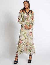 ex M&$ Collection Maxi Dress Off Shoulder Strap Long Sleeve Side Zip Ltd Qty £45