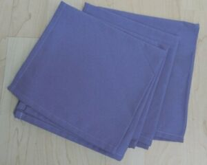 PURPLE QUALITY COTTON NAPKINS X 4