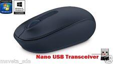 NEW Microsoft Wireless Mobile Mouse 1850 BLUE Nano USB Transceiver Windows 10