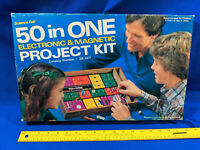 1970s-80s Radio Shack Science Fair 50 in One Electronic & Magnetic Project Kit