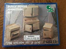 New ListingDolls House Furniture Kit F205 Kitchen Set - 4 Piece - Sink Oven Cabinet
