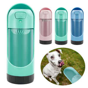 Leak Proof Portable Travel Pet Dog Cat Water Bottle with Filters Drinking Bowls
