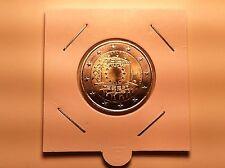 2 EURO PAYS BAS 2015 30 ANS DRAPEAU EUROPEEN COMMEMORATIVE NEUVE