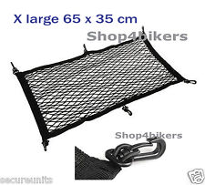 Motorbike scooter custom black cargo net x large 65 x 35 cm with hooks