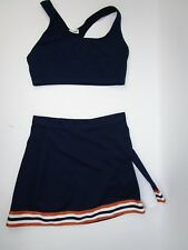"Sexy Cheerleader Uniform Outfit Costume Adult Top Sports Bra 26"" Waist Skirt"