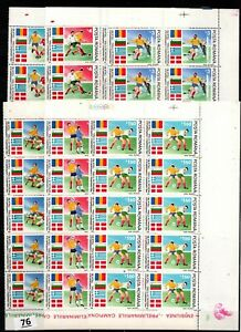 // 10X ROMANIA 1990 - MNH - SOCCER - FLAGS - ITALY