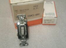 PASS & SEYMOUR 15AC1-GRY TOGGLE SWITCH AC 15A 120/277 (LOT OF 10) NEW $29
