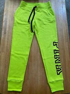 NEW Victoria Secret PINK Everyday Lounge Campus Pant Sweatpants Jogger Lime XS