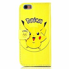 """Pokemon Case/Cover iPhone 6/6s (4.7"""") / Screen Protector / PU Leather / Pikachu"""