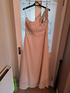 Bridesmaid/Prom One Shoulder Diamonte Affect Size 18