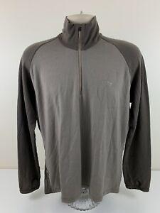 VTG Icebreaker Bodyfit 260 1/4 Zip Brown Pullover Shirt Mens Size XL Merino Wool