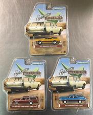 GREENLIGHT ESTATE WAGONS (LOT OF 3) 1970, 1972 OLDS VISTA CRUISE & 1985 MERCURY