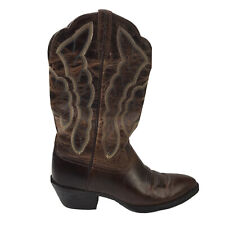 Ariat 10010266 Women's 6.5 B Brown Oiled Leather Round Toe Western Cowgirl Boots