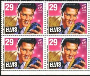 Mint stamp in block Elvis Presley 1993 from US  USA  avdpz