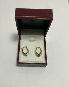 Women 9CT Yellow and White Gold Hoop Earring