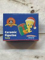 Vintage Looney Tunes Ceramic Christmas/Santa Tweety Bird Figurine By Warner Bros