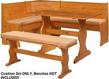 Breakfast Kitchen Nook Seat Dining Corner Bench Chelsea Cushion Set 4 Pcs Beige