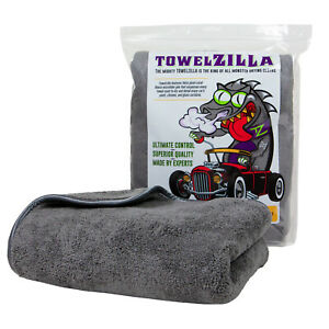 TowelZilla Microfiber Car Cleaning Cloth, 780 GSM Supersized 25x36 in - Thick