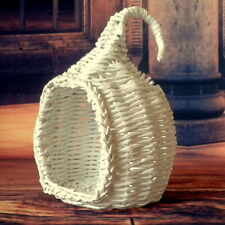Miniature hanging chair, white wicker dollhouse furniture BJD doll Handmade