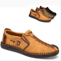 Fashion Men's Leather Casual Shoes Breathable Antiskid Loafers Moccasins