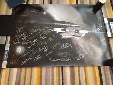 More details for star trek multi signed poster - 46x33