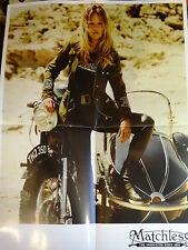 Original Poster KATE MOSS & CLEMENT CHABERNAUD for MATCHLESS A/W 2014 @ A2 @MINT