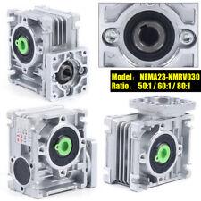Nema23 030 Worm Gear Box 501 601 801 Speed Reducer Reduction For Stepper 14mm
