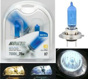 Nokya 7000K White H7 Nok7216 70W Two Bulbs Head Light Low Beam Replacement Fit