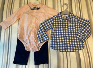 Carters baby boy 18 months 3 Piece Outfit With Additional Button Down Shirt